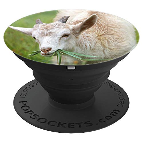 Cute Baby Goat Kid Eating Grass Phone Finger Holder Circle - PopSockets Grip and Stand for Phones and Tablets