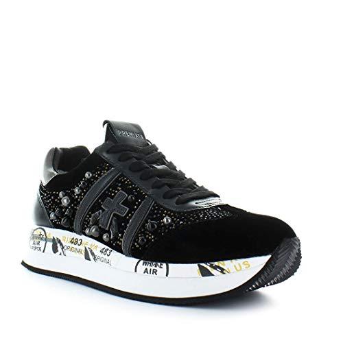 Premiata Avec hiver Femme Baskets Perles Automne Chaussures 1621 2019 Velour Noir Conny q0rqBwxa