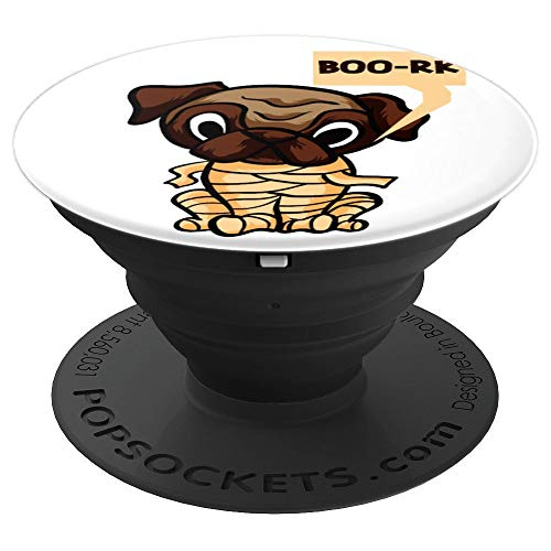 Funny Halloween Mummy Pug - PopSockets Grip and Stand for Phones and -