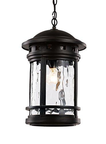 Trans Globe Lighting 40376 BK Outdoor Boardwalk 19'' Hanging Lantern, Black by Trans Globe Lighting