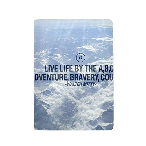 zhurunshangmaoGYS Secret Life Of Walter Mitty Adventure Comedy Travel Wallet Blocking Document Organizer Bag, Family Passport Holder 5.51 inch (Secret Life Of Walter Mitty Wallet Quote)