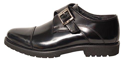 Antica Calzoleria Campana Schuhe | Mod. 1319 | Lack-Optik | Monk | schwarz Schwarz