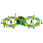Amazon Lightning Deal 99% claimed: Race Car Track Road Tunnel-Bridge Railway 169-piece Transportation Building Set by Poco Divo