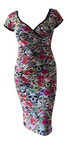 Switchblade Stiletto Womens Annabella Dress (Large, Death -