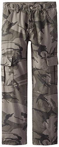 Wrangler Authentics Boys' Classic Cargo Pant, Anthracite Camo, - Boys Twill Infant Pants