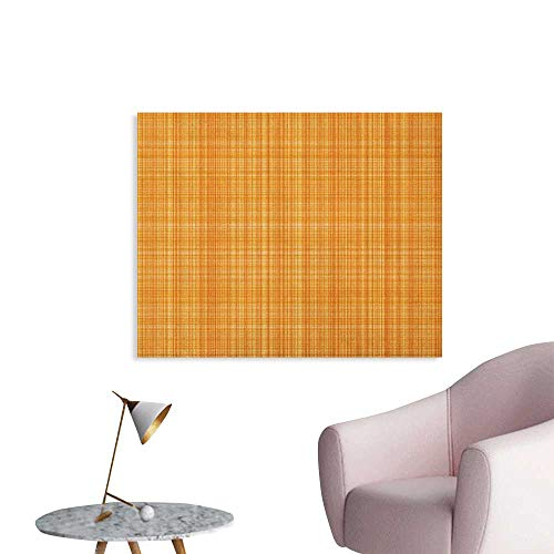 Anzhutwelve Orange Photo Wall Paper Striped Fiber Texture Image Abstract Thin Lines Complex Grid in Vintage Design Print Cool Poster Orange W28 -
