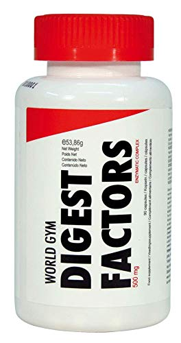 World Gym DIGEST FACTORS - 500mg - 90 cáps.: Amazon.es: Salud y ...