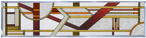 Brown ART DECO ARCHITECTURAL Suncatcher Transom Window 42