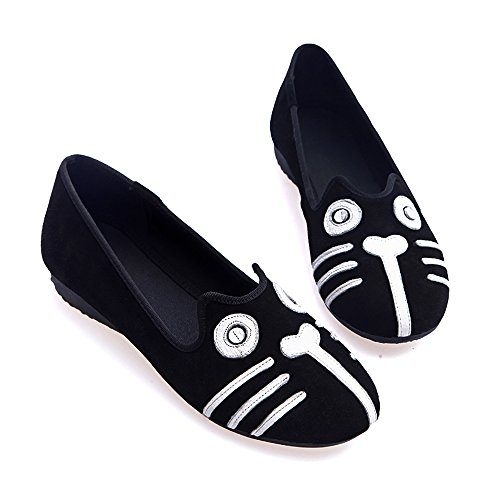 Classics Flat Casual Loafer Soft Daily Go Walking Slip-On Driving Sneaker Girl's Women's Shoes Black