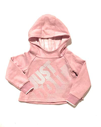 Nike Toddler Girls Just Do It Pullover Hoodie Pink Heather 3T by Nike