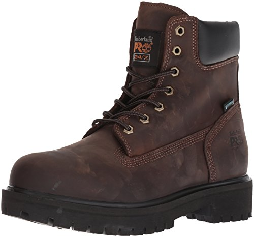 Timberland PRO Men's Direct Attach Six-Inch Soft-Toe Boot, Brown Oiled Full-Grain,8.5 M