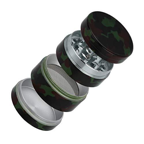 Vovomay Tobacco Grinder-4-layer 40mm Metal Herb & Spice Mills Tobacco Grinder Spice Graters Cursher (camouflage)