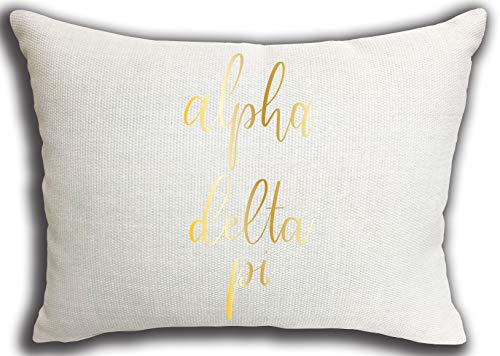 Alpha Delta Pi Sorority Throw Pillow