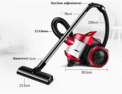 Mopoq Cylindre Aspirateur Aspirateur, aspirateur sans sac (1200W, forte succion, filtration multiple de cyclone, 5M rayon de nettoyage) Rouge meilleur aspirateur