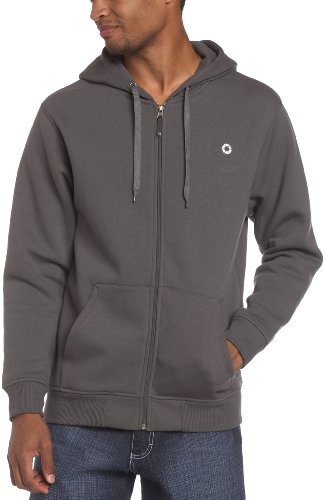 UPC 884889156955, Southpole Men's Big-Tall Long Sleeve Solid Color Full Zip Hoodie, Heather Charcoal, 4X-Large