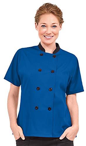 Women's Lightweight Short Sleeve Chef Coat (XS-3X, 3 Colors) (Medium, - Shirt Poplin Cook