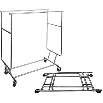 Amazon Com Collapsible Salesman Rolling Rack With Double