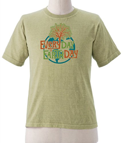 Earth Creations Mens Clay Dyed Earth Day Tree T-Shirt X-Large