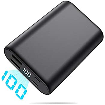 Portable Charger, Ekrist 16800mAh Ultra-Compact Power Bank with LCD Display + 2 Port USB External Battery Pack, Smaller High-Speed Travel Charging, ...