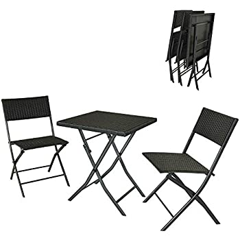 Amazon.com: soges 3 Pieces Folding Bistro Set Outdoor
