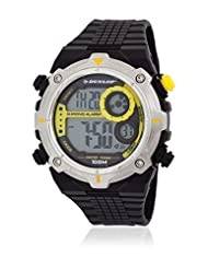 Dunlop Enchanter Men's Quartz Watch with Black Dial Digital Display and Black Plastic Strap DUN-228-G10