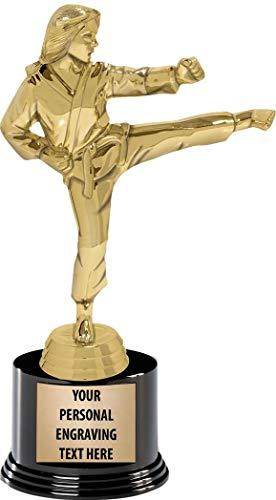 Crown Awards Karate Trophies with Custom Engraving, 7.25