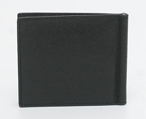 Black COACH COACH CROSSGRAIN LEATHER CROSSGRAIN CLIP MONEY xZzcgqUw