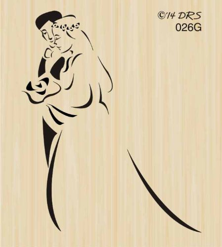 Silhouette Bride & Groom Rubber Stamp By DRS Designs (Bride Rubber Stamp)