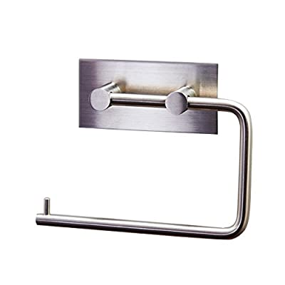 KES Toilet Paper Holder 3M Self Adhesive, Brushed Stainless Steel, A7070-P