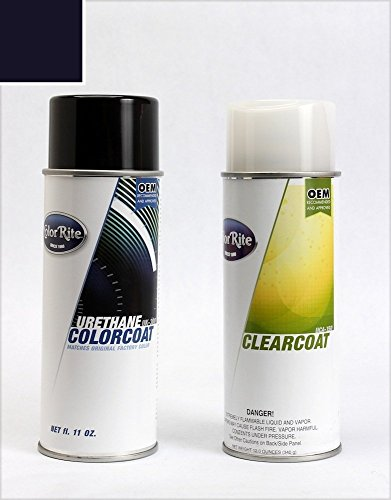 ColorRite Aerosol Automotive Touch-up Paint for BMW All - Mauritius Blue Pearl Clearcoat 287 - Value Package