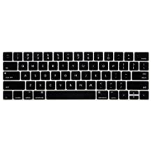 HRH New Retina 15 Keyboard Skin Silicone Cover for New MacBook Pro 13 15 Retina Display with Touch Bar A1706 A1707(2016 Oct. Release)USA Layout-Black
