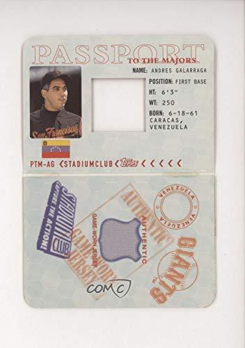 Andres Galarraga #1107/1,200 (Baseball Card) 2002 Topps Stadium Club - Passport to the Majors Relics #PTM-AG