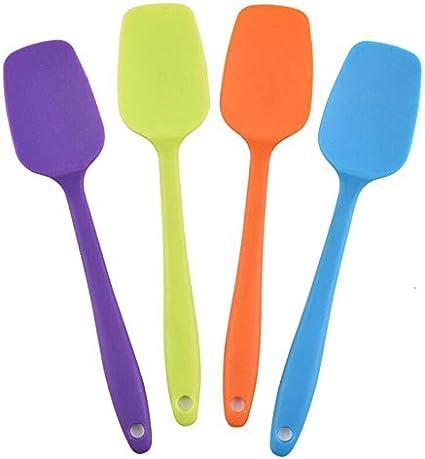 xiaoxioaguo 1pc pastel de herramientas de hornear espátula de silicona cuchara de galletas espátula espátula de pastelería espátula licuadora mantequilla helado cuchara