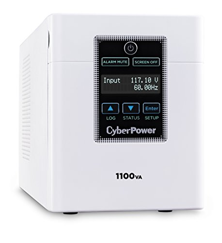 CyberPower M1100XL Medical-Grade UPS System, 1100VA/880W, 6 Outlets, AVR, Tower