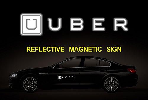 Cut Grace (Set of 2) BIG Reflective Magnetic UBER LOGO SIGN, Uber logo Sign, Car Magnet Sign (12 (12 Logo Car Magnet)