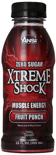 Ansi Xtreme Shock RTD Energy Drink, Fruit Punch, 12 fl.oz, 12 Count