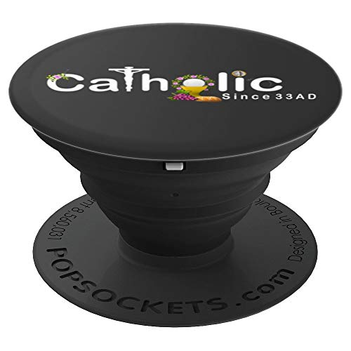 Catholic Pop Socket Since 33 AD Eucharist Crucifix 120 - PopSockets Grip and Stand for Phones and Tablets