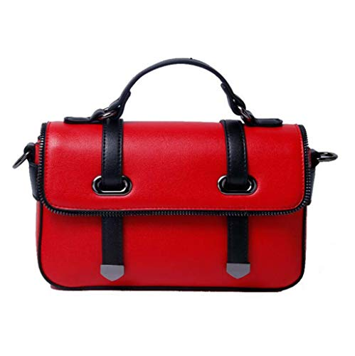 Mode Korean Bandoulière en Apricot Boston Red Main Bag DDHZTA Sac À Épaule À sur Square Mini Bag La en Une AzFIZUaHq