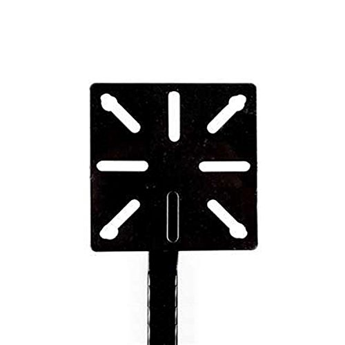 ALEKO LM107 Universal Mounting Post Gate Entry Gooseneck Curb Type Keypad Stand 51 Inches Tall Black