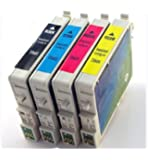 Generic Compatible Ink Cartridges Replacement for Epson 69,T069 (Black, Cyan, Magenta, Yellow, 4-Pack)