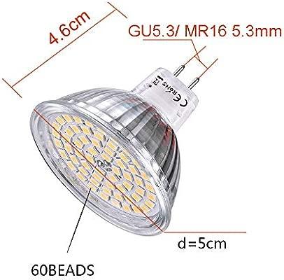 SCSY-Bombillas Bombilla LED MR16 GU5.3 de Ahorro de energía ...