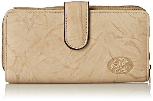 Buxton Women's Heiress Checkbook Wallet, Taupe, One Size