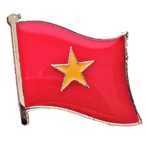 - Backwoods Barnaby Vietnam Flag Lapel Pin