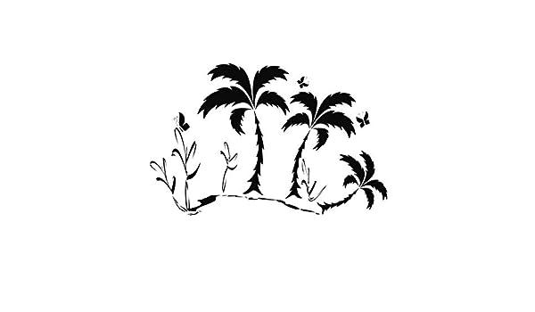 Habitación del bebé Tatuajes de pared Escena de playa Palmeras Decoración para el hogar Etiqueta de la pared de la sala de estar 64 cm X 59 cm: Amazon.es: Bricolaje y herramientas