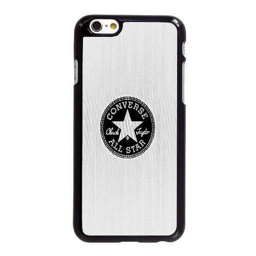 B9U37 annonce logo allstar Converse blanche X8L4IW coque iPhone 6 4.7 pouces cas de couverture de téléphone portable coque noire KR5JWF6JV