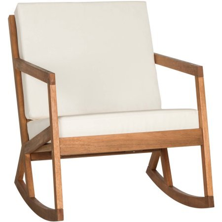 Rocking Chair, Cushioned, Indoor, Outdoor, Contemporary Design, Beige