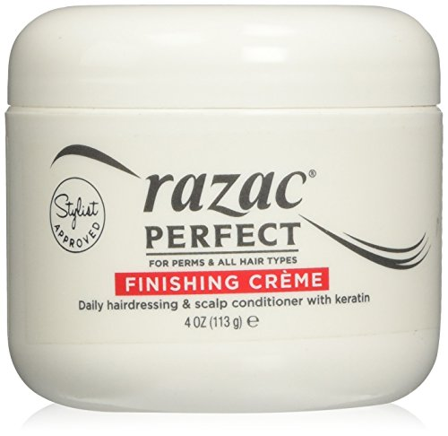 - Razac Perfect for Perms Finishing Creme Daily Hairdressing and Scalp Conditioner, 4 Ounce