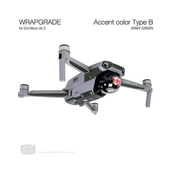 WRAPGRADE Skin Compatibile con DJI Mavic Air 2 | Accent Color B (Army Green) 2 spesavip