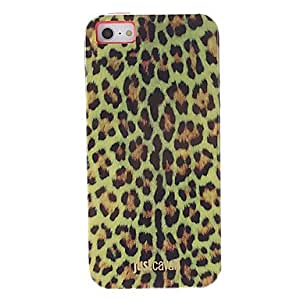 QHY Fashionable Yellow Leopard Print Pattern Smooth Anti-shock Case for iPhone 5/5S