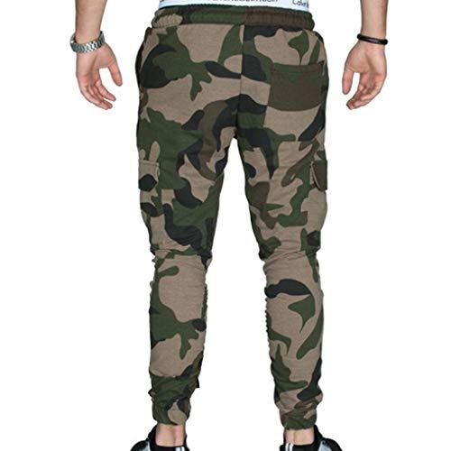 Realdo Hot!Clearance Sale Fashion Men Tight Beam Foot Drawstring Sports Slacks Casual Elastic Pockets Trousers(XXX-Large,Army Green) by Realdo (Image #2)